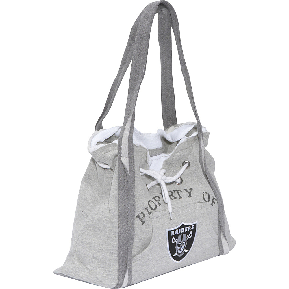 Littlearth NFL Hoodie Purse Grey Oakland Raiders - Littlearth Fabric Handbags - Handbags, Fabric Handbags