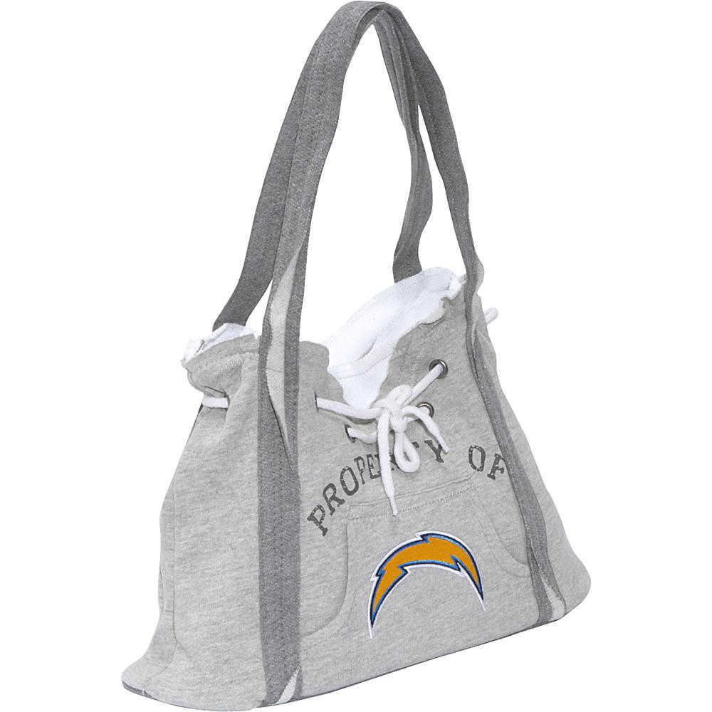 Littlearth NFL Hoodie Purse Grey San Diego Chargers - Littlearth Fabric Handbags - Handbags, Fabric Handbags