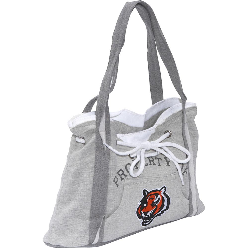 Littlearth NFL Hoodie Purse Grey Cincinnati Bengals - Littlearth Fabric Handbags - Handbags, Fabric Handbags