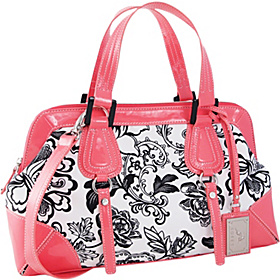 Floral & Patent Double Handle Satchel Melon
