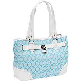 9 Jacquard Medium Shopper Capri White