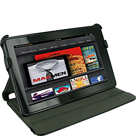 Slim-Fit Folio Case w/ Stand for Amazon Kindle Fire Black