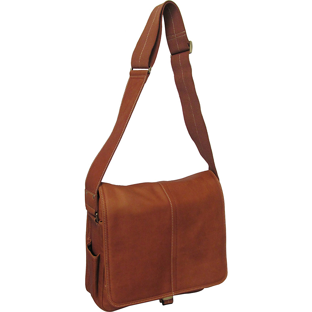 AmeriLeather Legacy Leather Teddy Messenger Bag - Brown - Work Bags & Briefcases, Messenger Bags