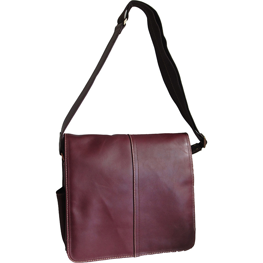 AmeriLeather Legacy Leather Teddy Messenger Bag Bordeaux - AmeriLeather Messenger Bags - Work Bags & Briefcases, Messenger Bags
