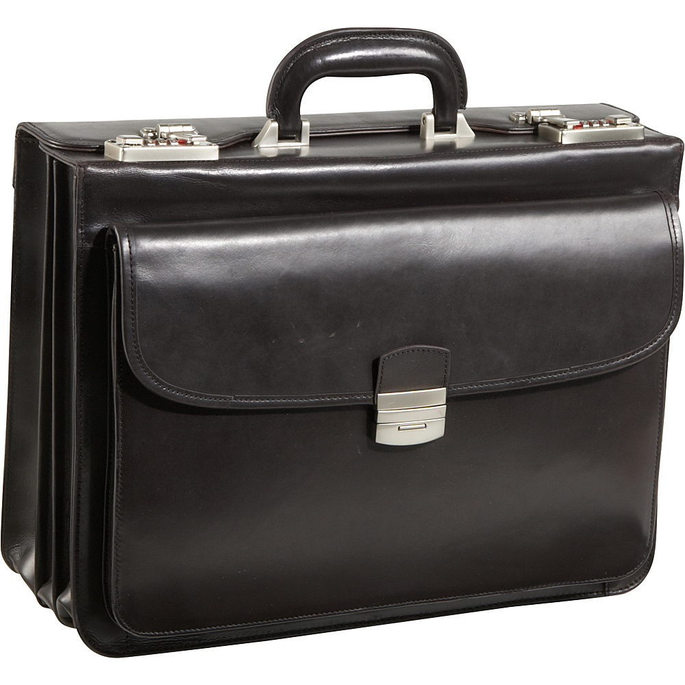 AmeriLeather Modern Attache Leather Executive Brief Dark Brown - AmeriLeather Non-Wheeled Business Cases - Work Bags & Briefcases, Non-Wheeled Business Cases