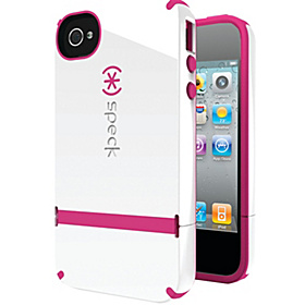 iPhone 4S Candyshell Flip Case  White/Raspberry