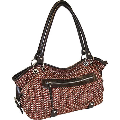 Nino Bossi Top Zip Satchel - Shoulder Bag