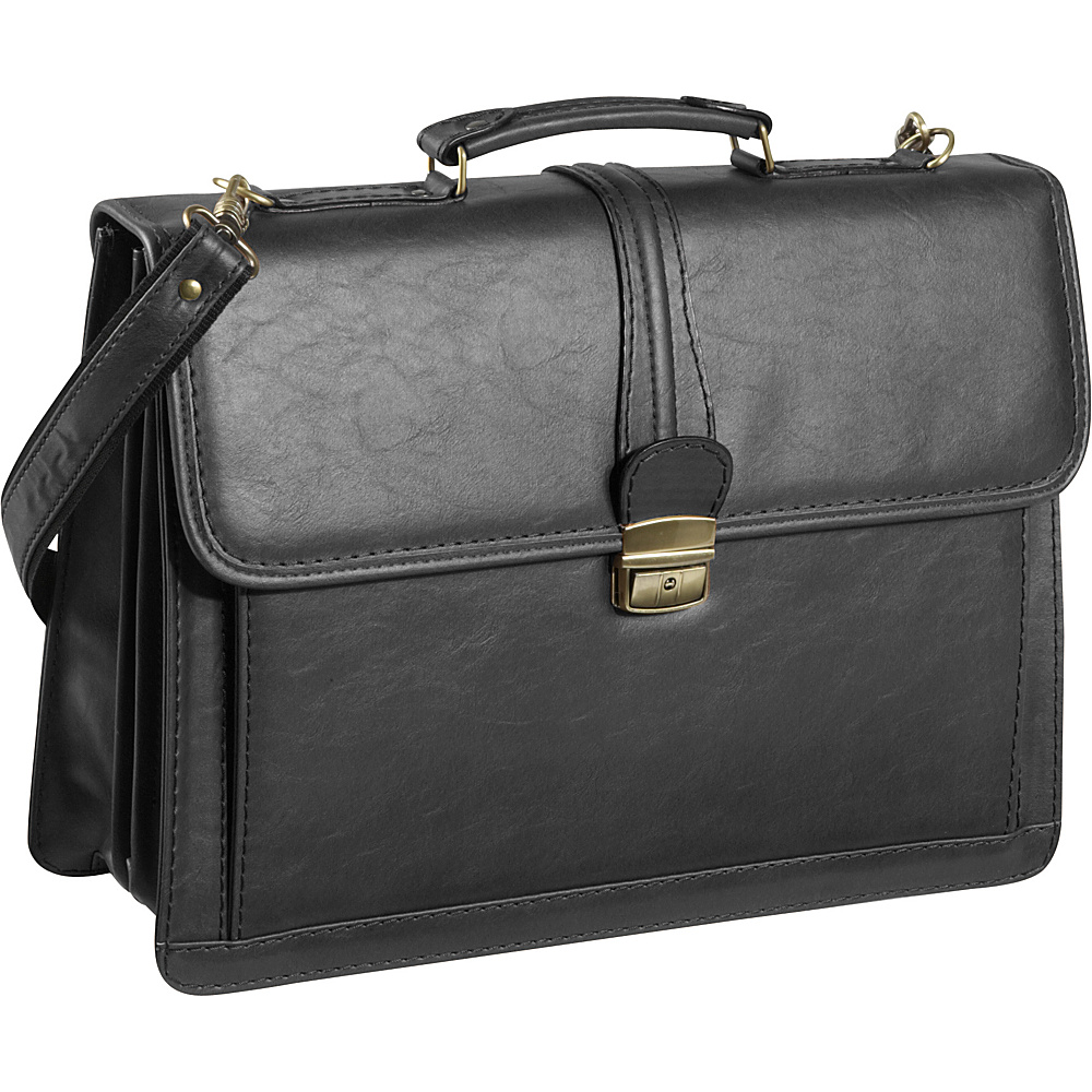 AmeriLeather Quincy Executive Briefcase - Black - Work Bags & Briefcases, Non-Wheeled Business Cases