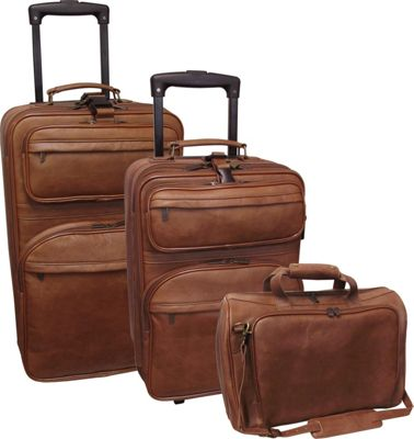 AmeriLeather Leather 3 pc. Set Traveler - Brown