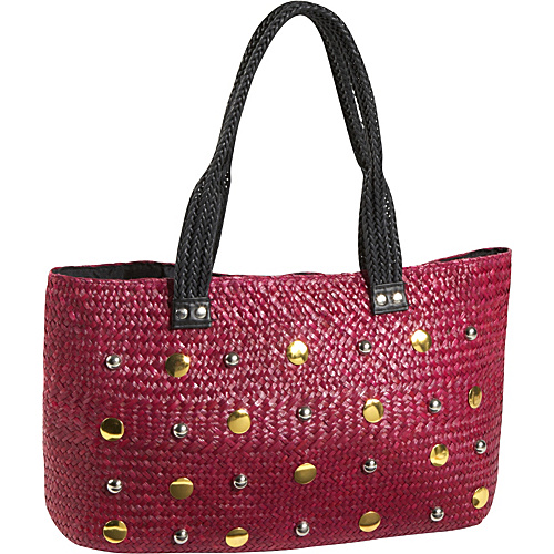 Magid Seagrass Studded East/west Tote