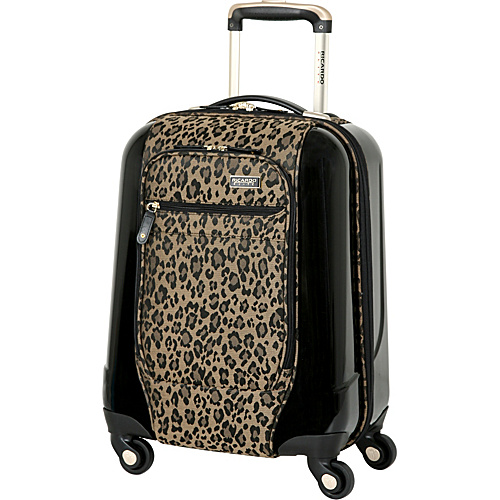 Ricardo Beverly Hills Crystal City Spinner Universal Carry-on Golden Leopard - Ricardo Beverly Hills Small Rolling Luggage