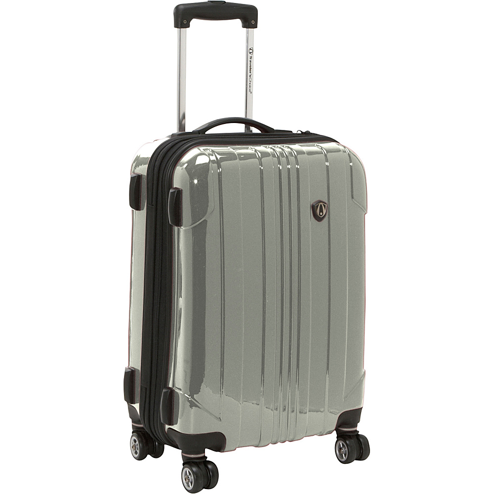 Travelers Choice Sedona 21 in. Hardside Spinner Pewter - Travelers Choice Hardside Carry-On - Luggage, Hardside Carry-On