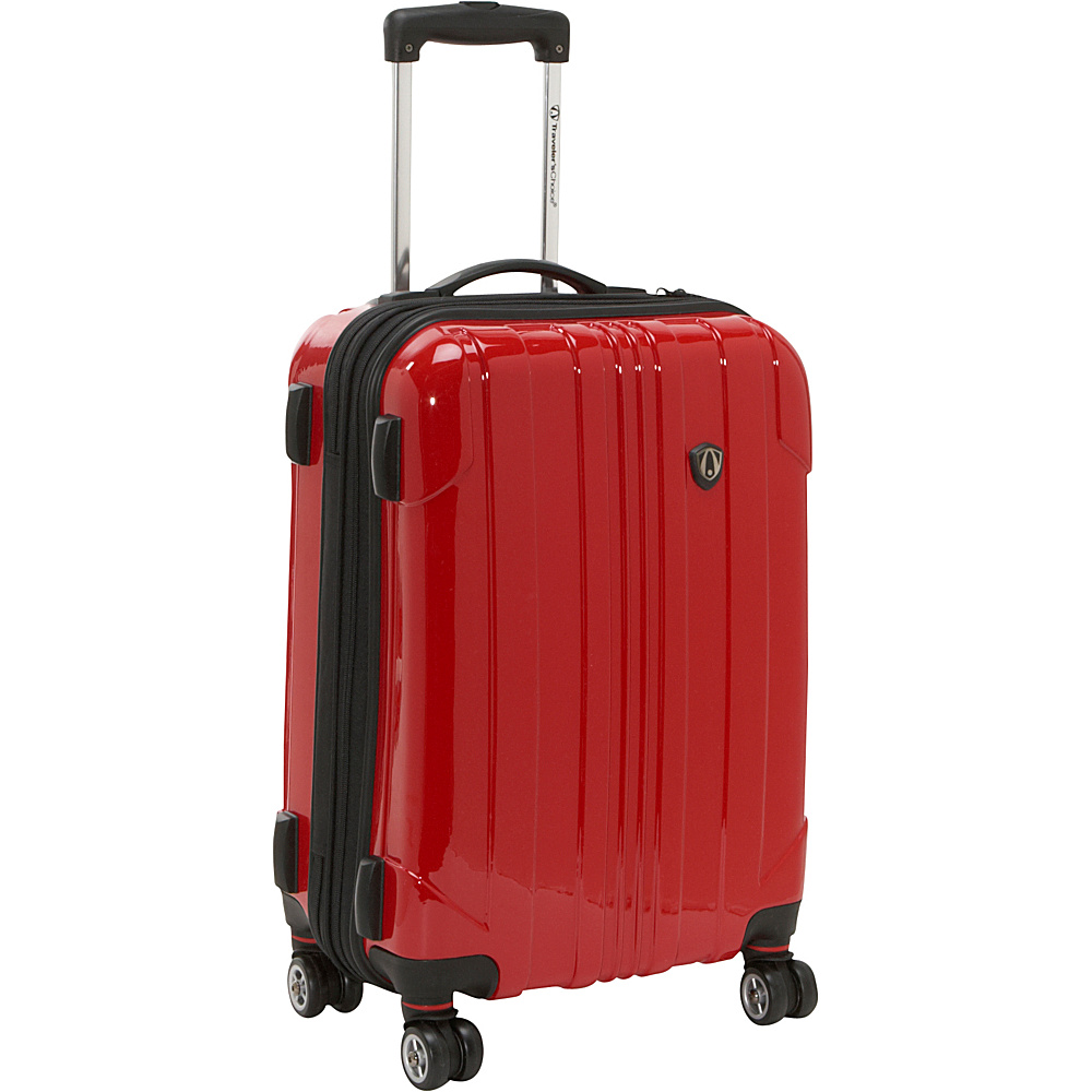 Travelers Choice Sedona 21 in. Hardside Spinner - Red - Luggage, Hardside Carry-On