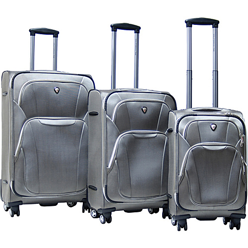 CalPak Dawson 3 Piece Exp. Luggage Set - Khaki