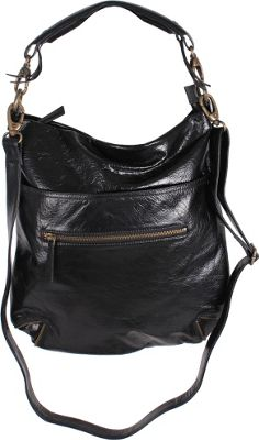 Latico Leathers Francesca Hobo Black - Latico Leathers Leather Handbags