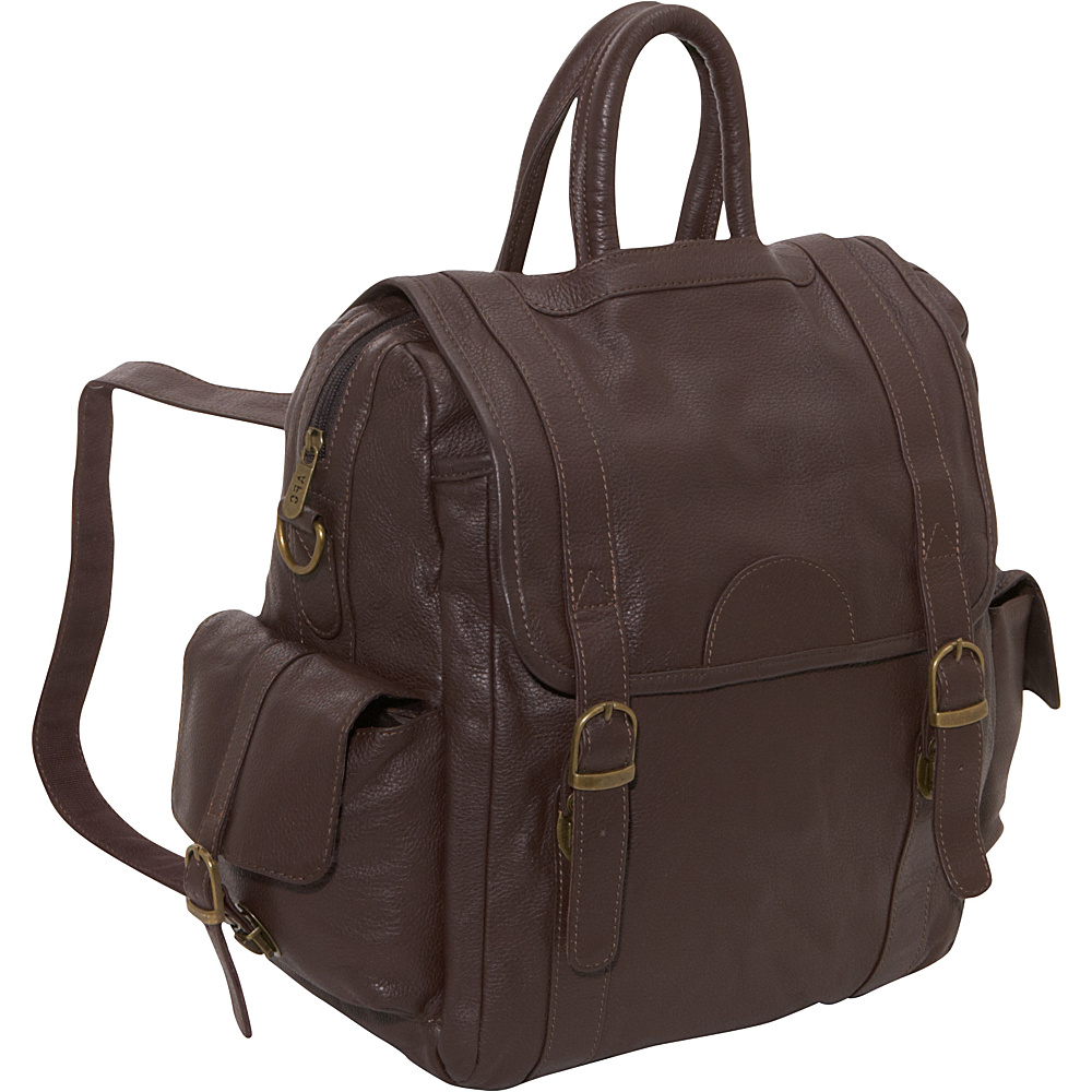 AmeriLeather Leather Three Way Backpack Chestnut Brown - AmeriLeather Everyday Backpacks - Backpacks, Everyday Backpacks