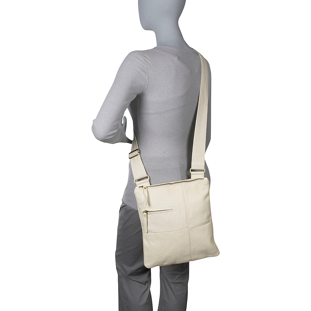 AmeriLeather Slim Cross-Body Messenger Bag - Black