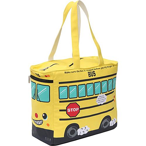 Ashley M School Bus Tote Bag - Tote