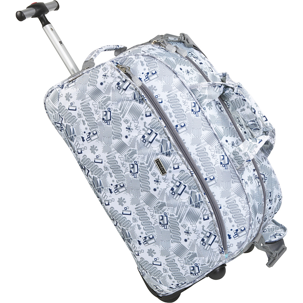 J World Christy 20 Rolling Duffel - Blinker White - Luggage, Softside Carry-On