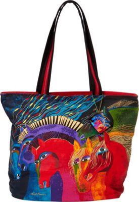 Laurel Burch Wild Horses of Fire Shoulder Tote Wild Horses of Fire - Laurel Burch Fabric Handbags