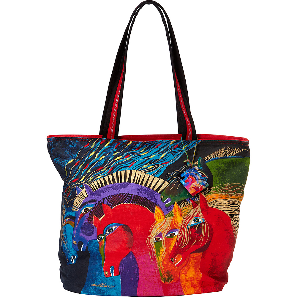 Laurel Burch Wild Horses of Fire Shoulder Tote Wild Horses of Fire - Laurel Burch Fabric Handbags