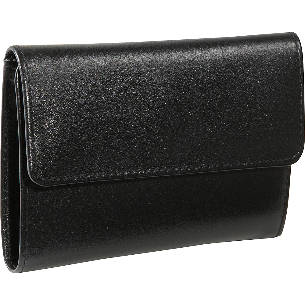 Derek Alexander Slim Wallet, Zip Change - Black - Women's SLG, Women's Wallets