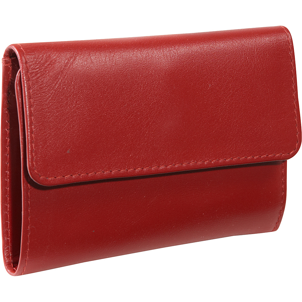 Derek Alexander Slim Wallet, Zip Change - Red - Women's SLG, Women's Wallets