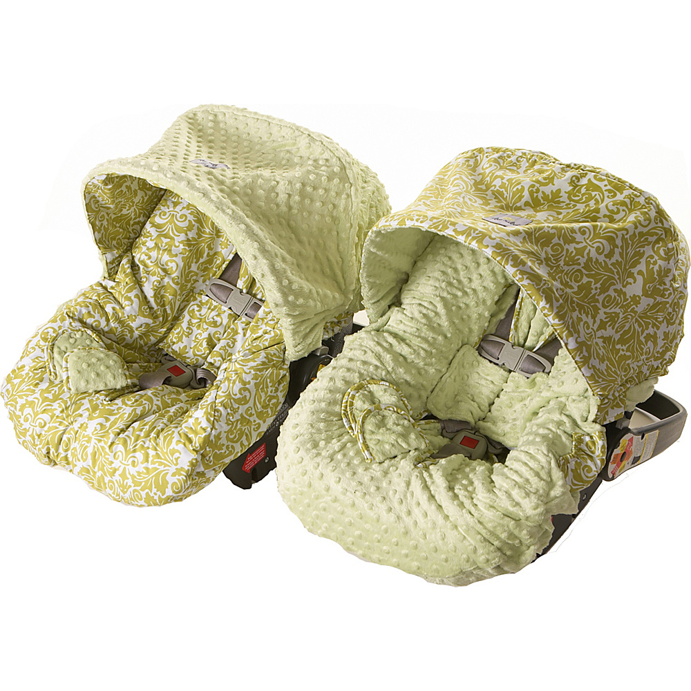 Itzy Ritzy Baby Ritzy Rider Infant Car Seat Cover Avocado Damask Itzy Ritzy Diaper Bags Accessories