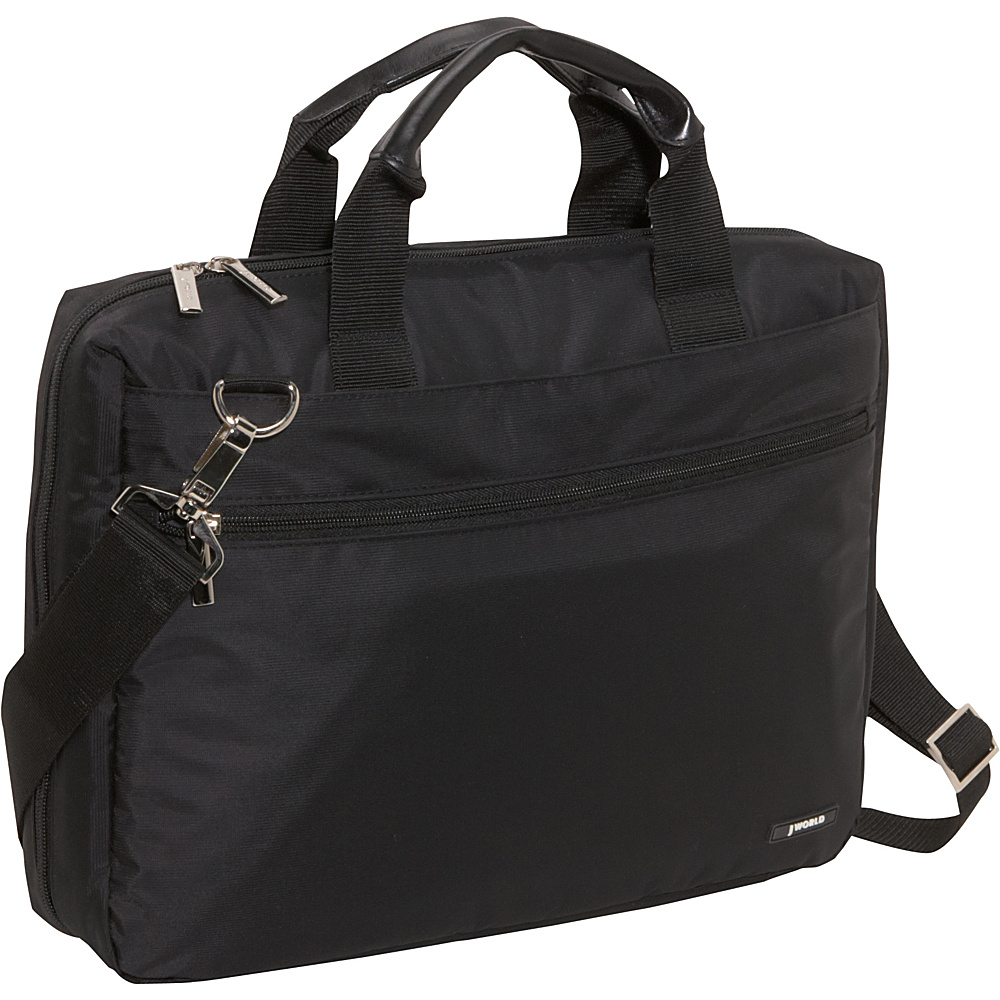 J World Research Laptop Bag - Black - Work Bags & Briefcases, Non-Wheeled Business Cases