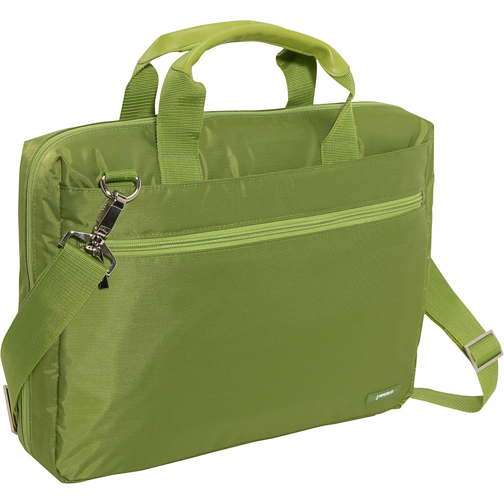 J World Research Laptop Bag - Olive Green - Work Bags & Briefcases, Non-Wheeled Business Cases