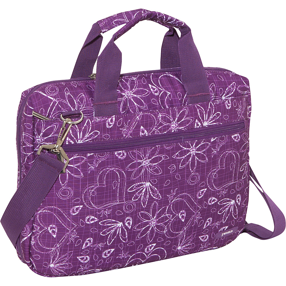 J World Research Laptop Bag - Love Purple