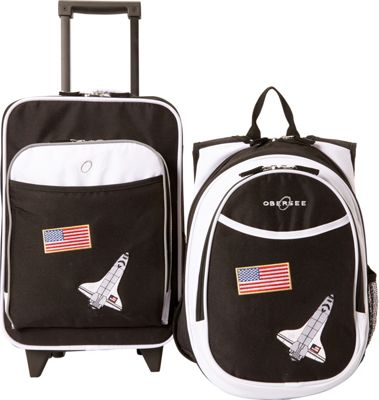 Obersee Kids Space Luggage and Backpack Set With Integrated Cooler Space - Obersee Softside Carry-On