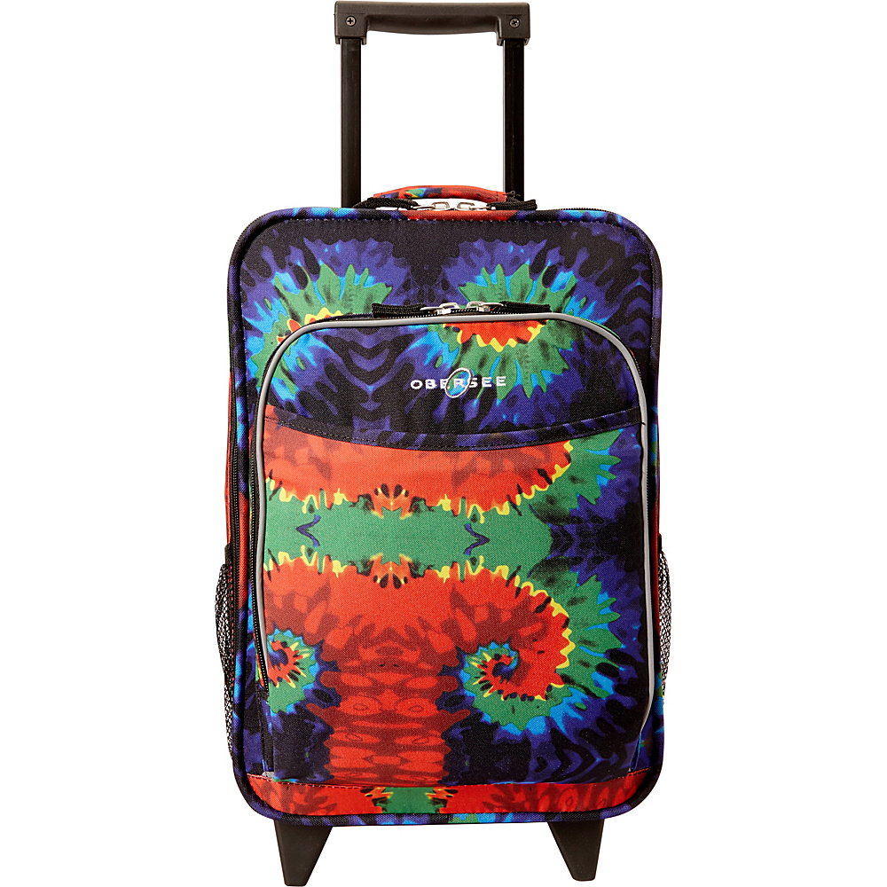 Obersee Kids Tie Dye 16 Upright Tie Dye Obersee Softside Carry On