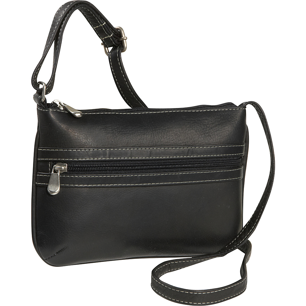 Le Donne Leather City Crossbody Bag - Black - Handbags, Leather Handbags