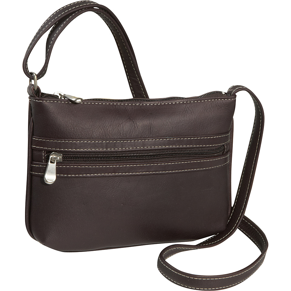 Le Donne Leather City Crossbody Bag - Caf - Handbags, Leather Handbags