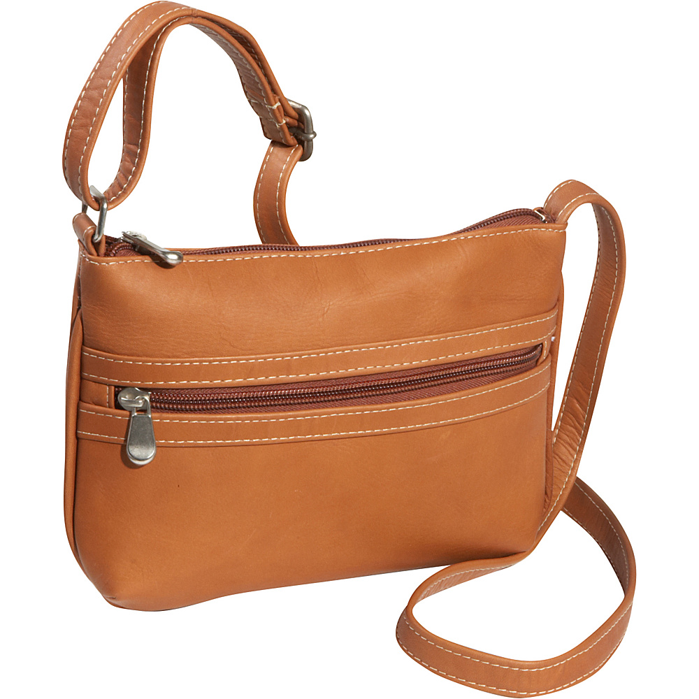 Le Donne Leather City Crossbody Bag - Tan - Handbags, Leather Handbags