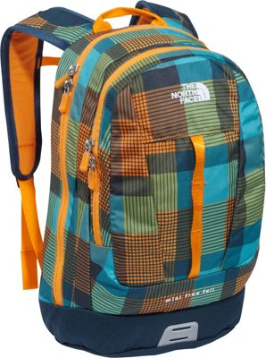 The North Face Mini Free Fall Safety Orange Plaid - The North Face Kids' Backpacks