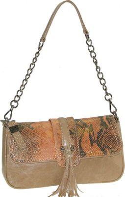 Buxton Jasmine Leather Shoulder Bag Tan - Buxton Leather Handbags
