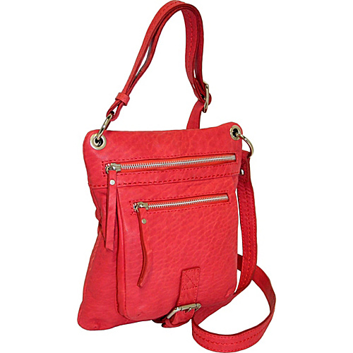 Nino Bossi Small Cross Body with Two Zip Pockets - Red