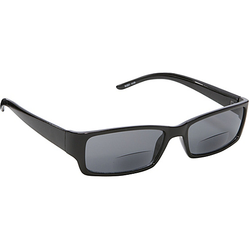 SW Global Rectangle Fashion Sunglasses Black with Vision Power 3.0 Black - SW Global Eyewear