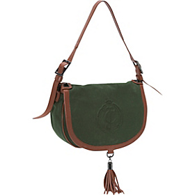 Canvas Deboss Tara Flap Bag Juniper Green