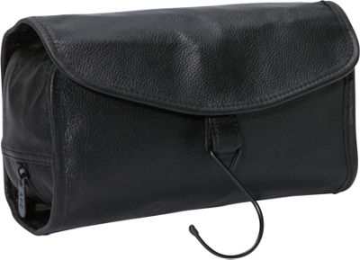 AmeriLeather Leather Travel Bag Black - AmeriLeather Toiletry Kits