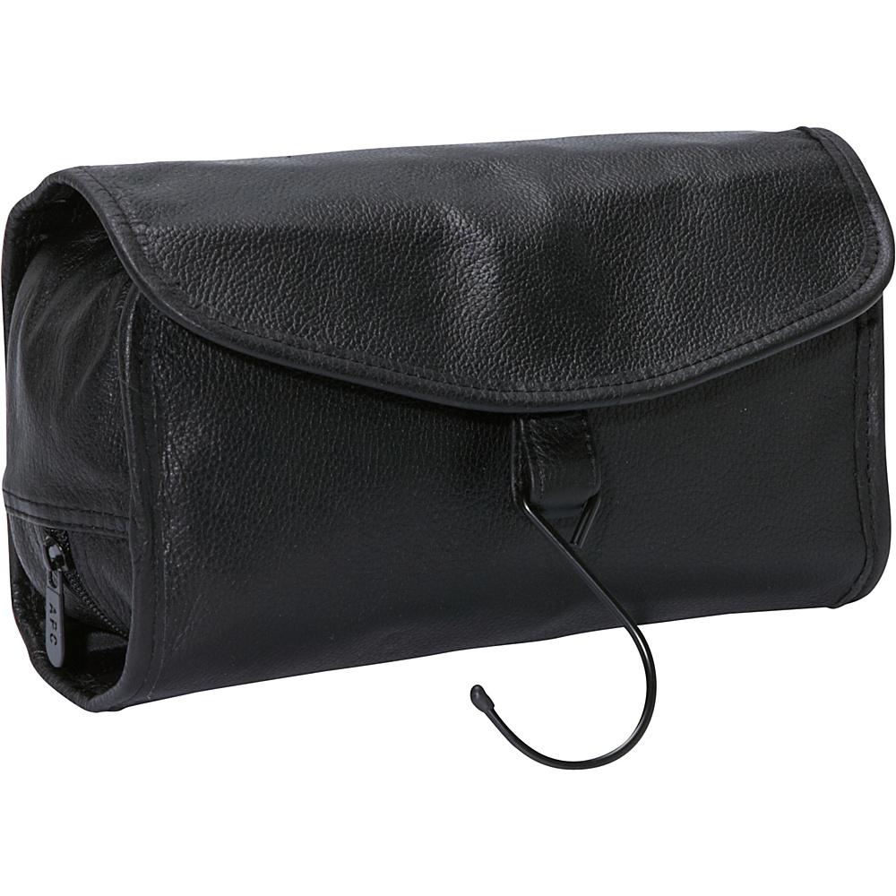 AmeriLeather Leather Travel Bag Black - AmeriLeather Toiletry Kits - Travel Accessories, Toiletry Kits