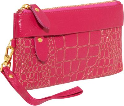 AmeriLeather Sparks Leather Clutch Wristlet