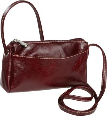 David King & Co. Florentine Top Zip Mini Bag Cherry - David King & Co. Leather Handbags