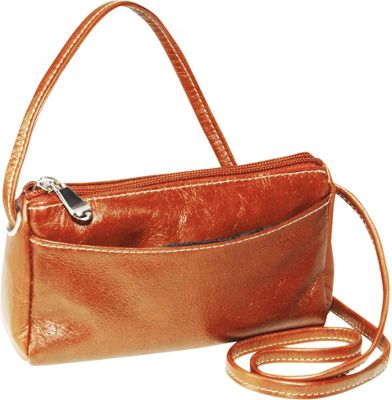 David King & Co. Florentine Top Zip Mini Bag Honey - David King & Co. Leather Handbags