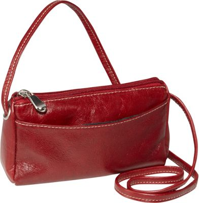 David King & Co. David King & Co. Florentine Top Zip Mini Bag Red - David King & Co. Leather Handbags