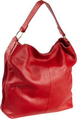 AmeriLeather Cynthia Leather Hobo Red - AmeriLeather Leather Handbags