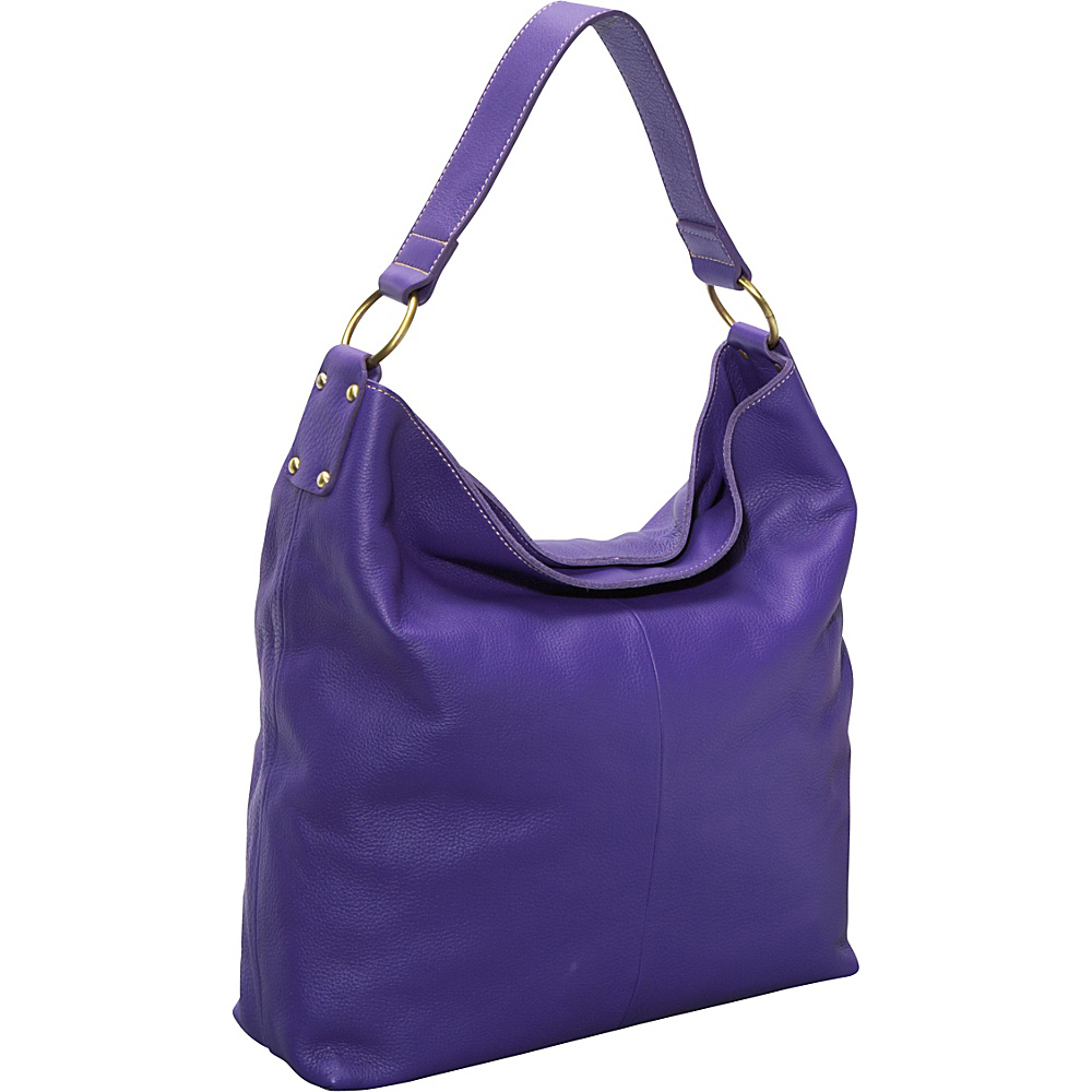 AmeriLeather Cynthia Leather Hobo - Purple - Handbags, Leather Handbags