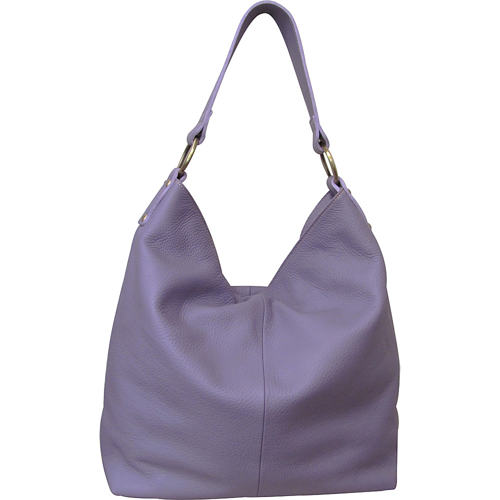 AmeriLeather Cynthia Leather Hobo Dahlia - AmeriLeather Leather Handbags - Handbags, Leather Handbags
